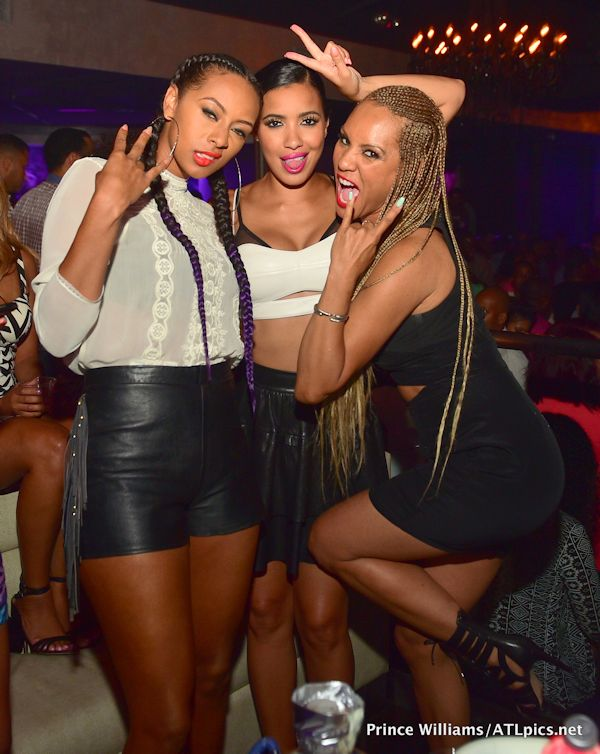 Keri Hilson Rocks Two Long Cornrowed Braids To Prive Night Club 2