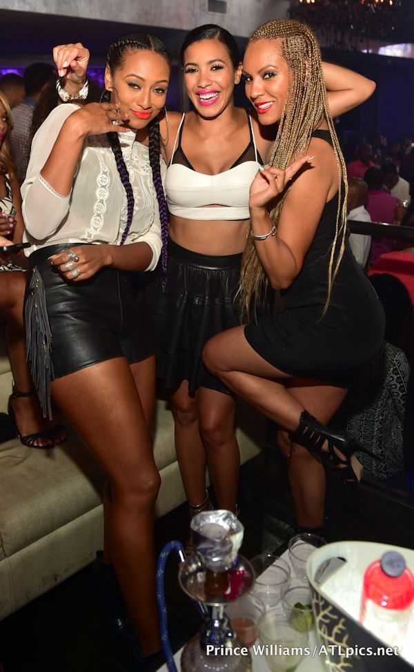 Keri Hilson Rocks Two Long Cornrowed Braids To Prive Night Club 4