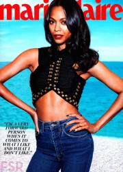 On The Cover - Zoe Saldana for Marie Claire August 2014 2