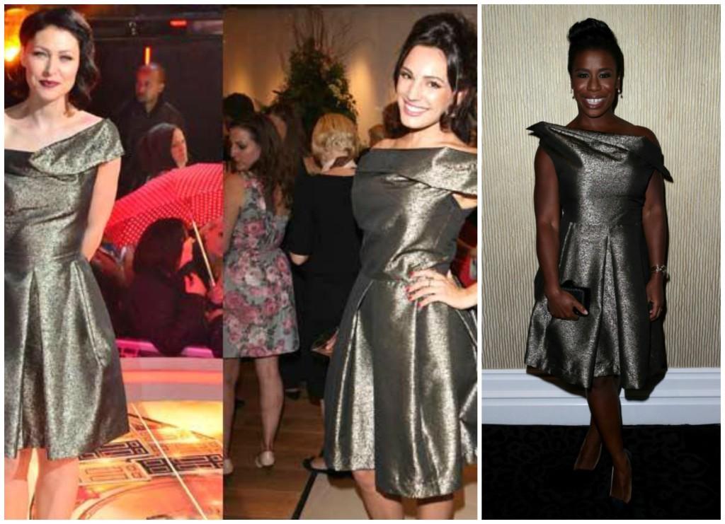Vivienne Westwood Anglomania Halton Draped Metallic Jacquard Dress3
