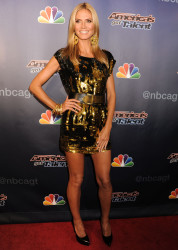 Heidi Klum arrives at the 'America's Got Talent' Post Show Red Carpet held at Radio City Music Hall in New York Cit