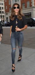 Nicole Scherzinger helps fan with her Ice Bucket Challenge outside BBC Radio 1 Studios in London