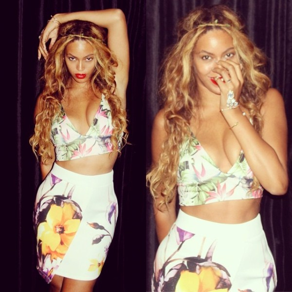 Celebrity Style - Beyonce Instagrams Festiva Floral Style