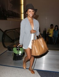 Celebrity Style - Kat Graham's Airport Ensemble