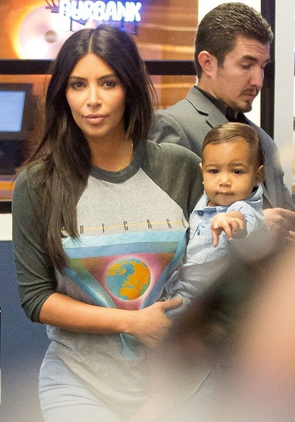 Cuteness Alert - Kim K Spotted With Baby North Airport 2
