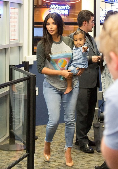 Cuteness Alert - Kim K Spotted With Baby North Airport 3