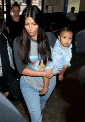 Cuteness Alert - Kim K Spotted With Baby North Airport 4