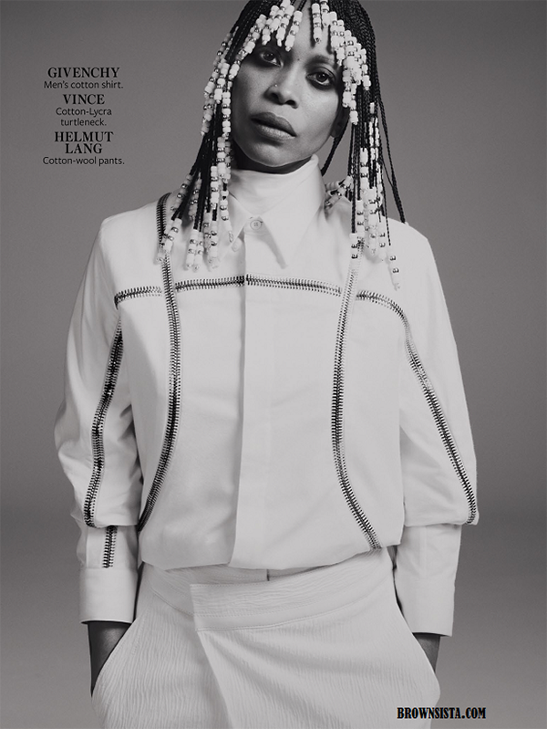 Erykah Badu Goes Retro For In Style Magazine September 2014 Issue 6