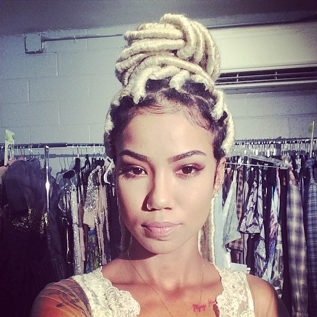 Jhene Aiko Instagrams Blonde Faux Locks Hairstyle 2
