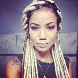 Jhene Aiko Instagrams Blonde Faux Locks Hairstyle