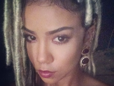 Jhene Aiko Instagrams Blonde Faux Locks Hairstyle 3