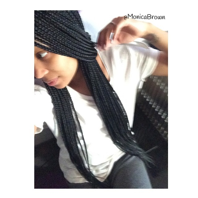 Monica Brown Shows Off Box Braid Hairstyle 3