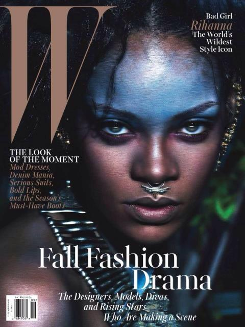 On The Cover - Rihanna for W Magazine September 2014 Issue