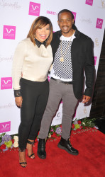 Tisha Campbell Martin and Duane Martin at Vivica's 50th Birthday Party at Philippe Chow in Beverly Hills