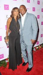 Rodney Peete and Holly Robinson Peete at Vivica's 50th Birthday Party at Philippe Chow in Beverly Hills