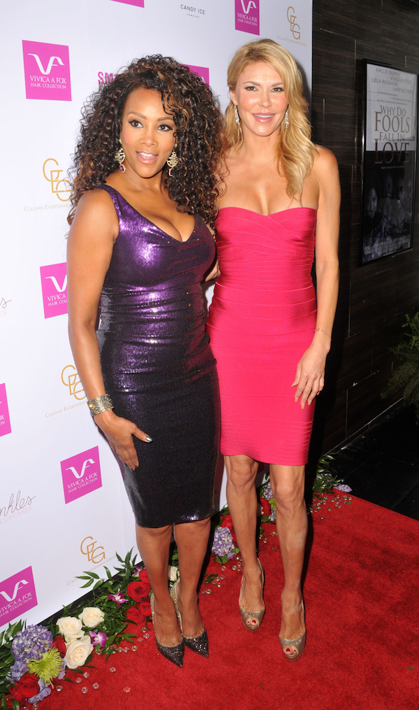 Vivica A. Fox and Brandi Glanville at Vivica's 50th Birthday Party at Philippe Chow in Beverly Hills