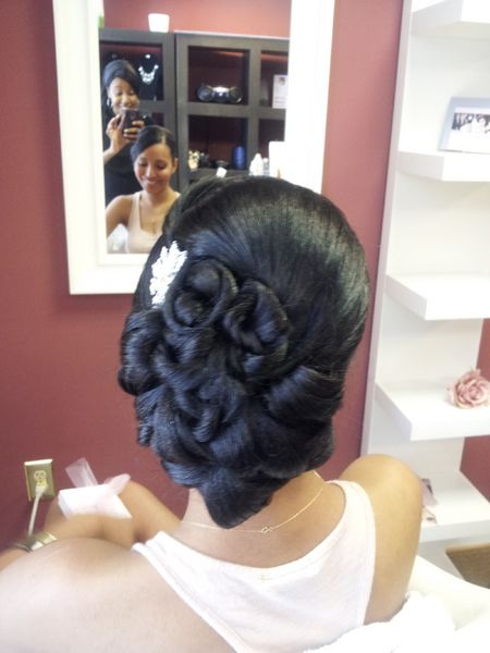 African American Updo Wedding Hairstyles for Black Women