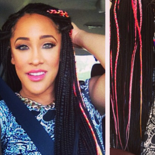 Fall 2014 Hair Trends For Black Women - 5 Unique Box Braid Hair Color Variations 6