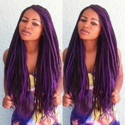 Fall 2014 Hair Trends For Black Women - 5 Unique Box Braid Hair Color Variations 7