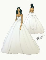 Gabrielle Union Stuns In Dennis Basso for Kleinfeld Wedding Gown 2