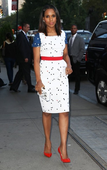 Kerry Washington Makes Scandal Media Runs Looking Fabulous 2