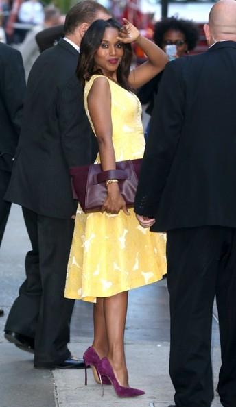 Kerry Washington Makes Scandal Media Runs Looking Fabulous 3