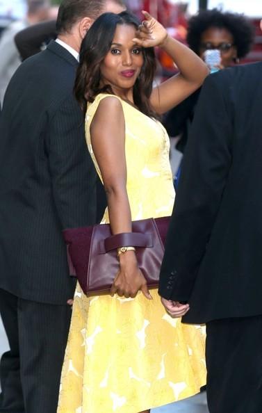 Kerry Washington Makes Scandal Media Runs Looking Fabulous 4