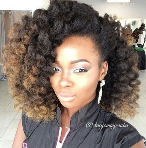Ombre Hair Coloring Ideas For Natural Hair - Curly Hair 10