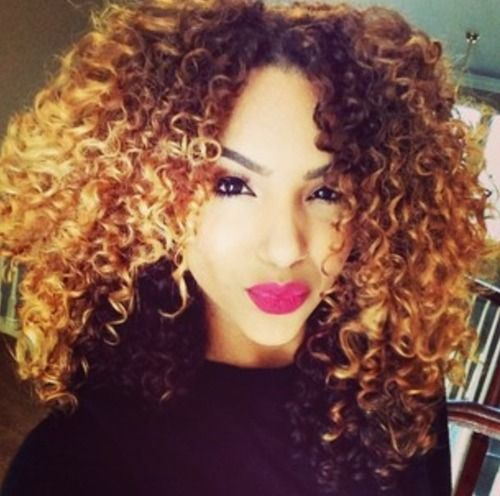 Ombre Hair Coloring Ideas For Natural Hair - Curly Hair 2