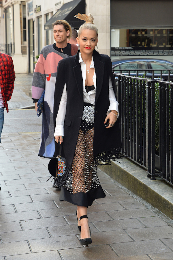 Rita Ora attends the launch of The 34 Kate Moss Coupe at 34 Grosvenor Square in London