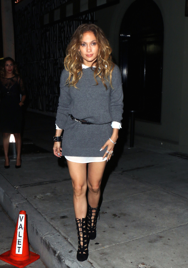 Jennifer Lopez seen leaving Craig's restaurant in West Hollywood