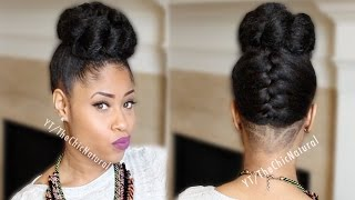 Hair Tutorial - How To Do A French Braided Bun Updo [On Natural Hair]