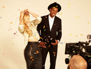 Iggy Azalea & Boyfriend Nick Young Pose For Forever 21 Holiday 2014 Ad Campaign 4