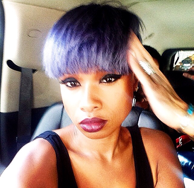 Jennifer Hudson's Pixie Haircut Is Now A Fierce Purple 2
