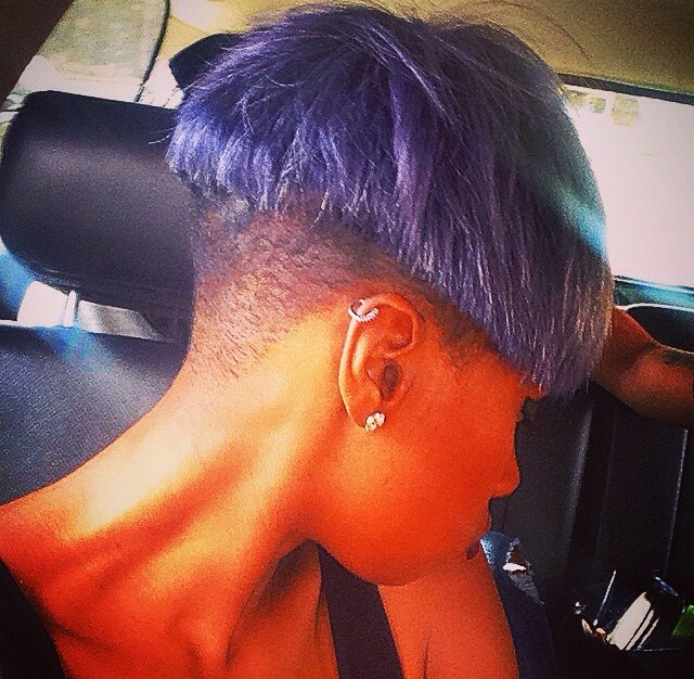 Jennifer Hudson's Pixie Haircut Is Now A Fierce Purple 3