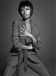 Nicki Minaj Works L'Uomo Vogue In Menswear Fashion