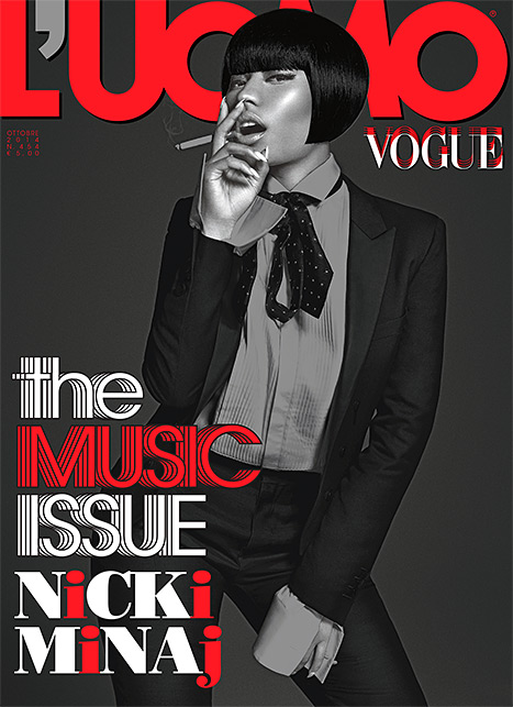 Nicki Minaj Works L'Uomo Vogue In Menswear Fashion 2
