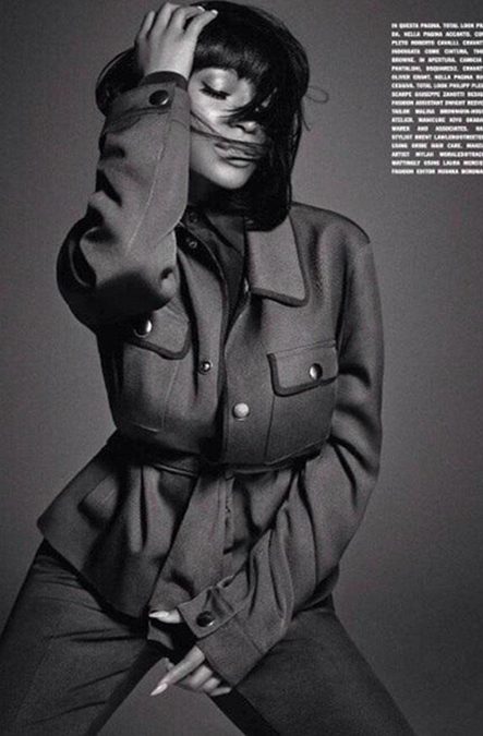 Nicki Minaj Works L'Uomo Vogue In Menswear Fashion 4