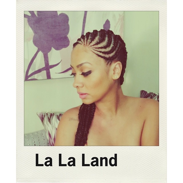 La La Anthony Shows Off Side Braided Hairstyle