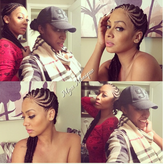 La La Anthony Shows Off Side Braided Hairstyle The Style News Network