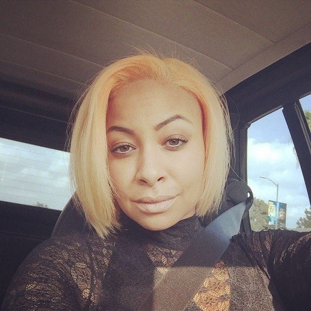 Raven-Symoné Shows Off New Peach Hair Color For the Holidays