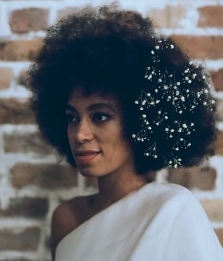 Solange Rocks Gorgeous Afro On Her Wedding Day 4