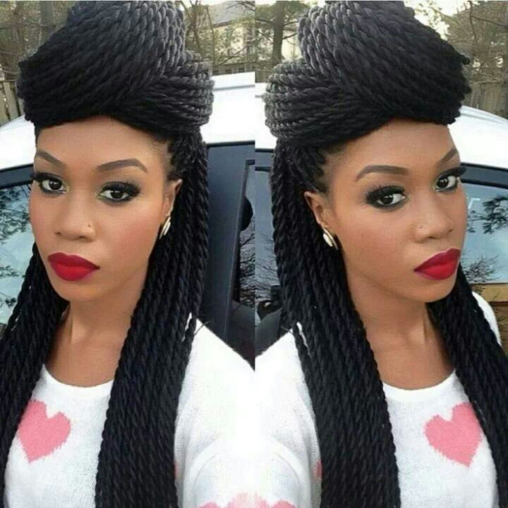 Senegalese Twist Braids Hairstyles for Black Women View Image