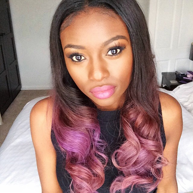 Magnificent 22 Unique Colored Hair Combinations On Black Women That Will Blow Hairstyles For Men Maxibearus