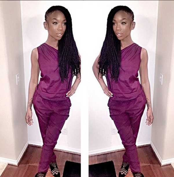 Brandy Instagrams New Hairstyle - Senegalese Twists 2