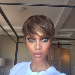 Tyra Banks Instagrams New Trendy Pixie Haircut!