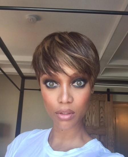 Tyra Banks Instagrams New Trendy Pixie Haircut!
