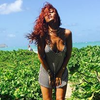 Is Red The New Blonde - Rihanna Shows Off New Red Hair Color 2