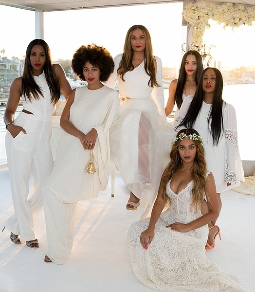 Tina Knowles and Richard Lawson's Wed In All White 2