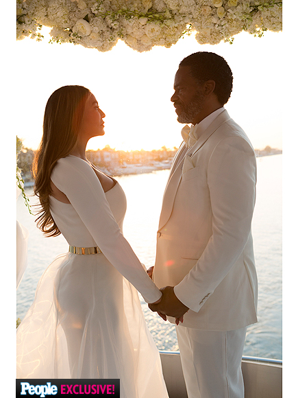 Tina Knowles and Richard Lawson's Wed In All White 4